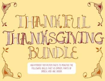 FUN Thanksgiving Grammar Centers