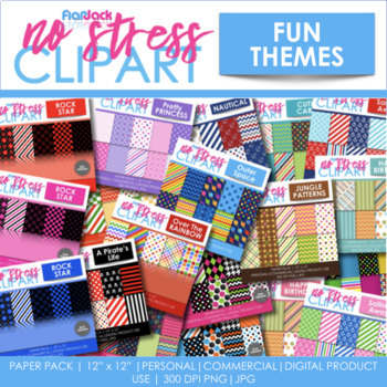 FUN Themes Digital Papers BUNDLE