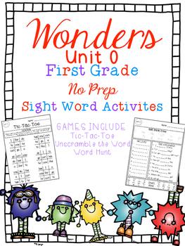 FUN WITH SIGHT WORDS * First Grade * WONDERS * Unit 0/Smart Start