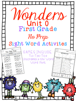 FUN WITH SIGHT WORDS * First Grade * WONDERS * Unit 0/Smart Start
