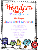 FUN WITH SIGHT WORDS * First Grade * WONDERS * Unit 3