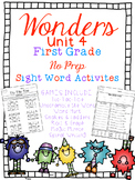 FUN WITH SIGHT WORDS * First Grade * WONDERS * Unit 4
