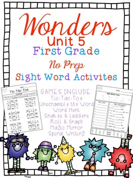 FUN WITH SIGHT WORDS * First Grade * WONDERS * Unit 5