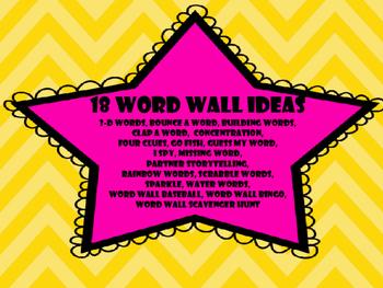 FUN WITH WORD WALLS