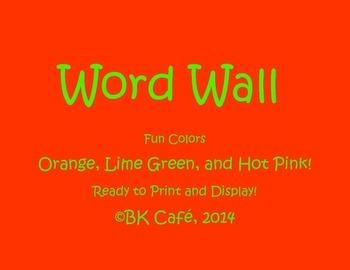 FUN Word Wall