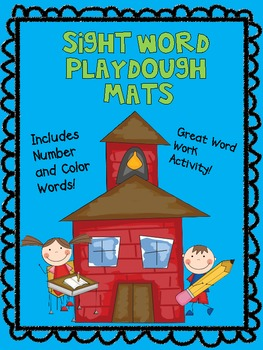 FUN Word Work Sight Word Playdough Mats - Including Number and Color Words!!