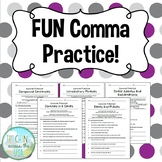 FUN comma practice worksheets!