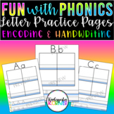 FUN with Letters - Work on Writing Alphabet Phonics Center Distance Learning