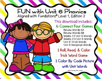 FUN with Unit 6 PHONICS: Partner Games and Color by Code