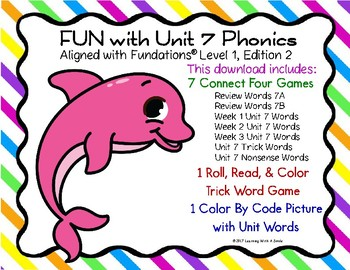 FUN with Unit 7 PHONICS: Partner Games and Color by Code