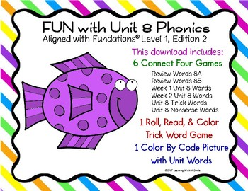 FUN with Unit 8 PHONICS: Partner Games and Color by Code