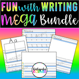 FUN with Writing BUNDLE Work on Writing Center Activities for ENTIRE YEAR K,1
