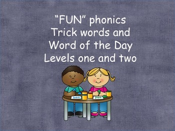 FUN word cards levels 1 and 2