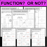 FUNCTION? OR NOT? SET OF 3 Vertical Line Test Domain Range FUNCTIONS RELATIONS