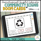 FUNCTIONAL LITERACY BOOM™️ CARDS: COMMUNITY SIGNS FOR DISTANCE LEARNING