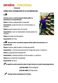 SPEAKING SPANISH  EN EL SUPERMERCADO