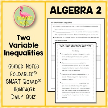 Algebra 2: Two-Variable Inequalities