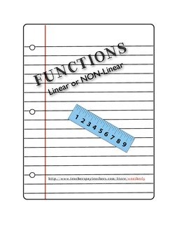 FUNCTIONS - Linear or Non-Linear
