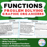 FUNCTIONS Word Problems with Graphic Organizer