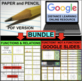 FUNCTIONS and RELATIONS BUNDLE (PDF & Google Docs)