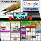 FUNCTIONS and RELATIONS Domain Range MEGA BUNDLE (PDF & Go