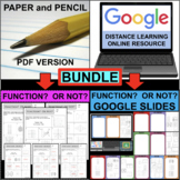 FUNCTIONS and RELATIONS Sort BUNDLE (PDF & Google Docs)
