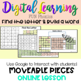 FUN Phonics | Build a Word|Find the Letters-Digital Google Distance Learning 2nd