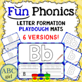 Fundationally FUN PHONICS Letter Formation and Recognition Playdough Mats