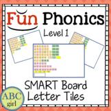 1st Grade Fundations Level 1 SMART Board Letter Tile Sound Card Display