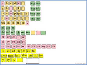 Level 2 SMARTBoard Letter Tiles (Sound Card Display)