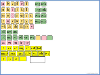 2nd Grade Fundationally FUN PHONICS Level 2 SMART Board Letter Tile Sound CardS