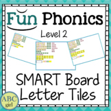 2nd Grade Fundationally FUN PHONICS Level 2 SMART Board Letter Tile Sound CardS