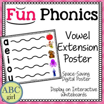Fundationally FUN PHONICS Vowel Extension Chart