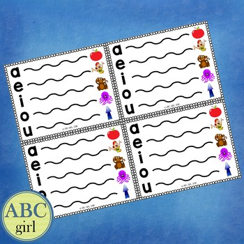 Fundationally FUN PHONICS Vowel Extension Charts Individual Student-Sized!