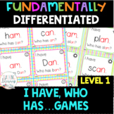 FUNdamentally Differentiated I Have, Who Has Games Grade 1