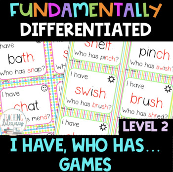 "Grade 2 - FUNdamentally Differentiated ""I Have, Who Has"" Games -  Units 1 - 17"