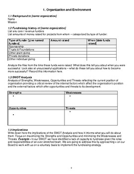 FUNDRAISING PLANS AND TEMPLATES