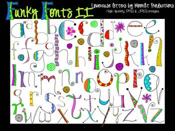FUNKY FONTS II - Lowercase Alphabet - Personal & Commercial use