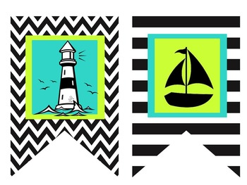 FUNKY NAUTICAL THEMED CLASSROOM FLAGS