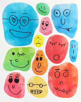 FUNNY FACES DRAWING PROMP.