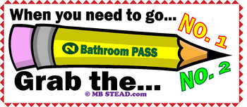 FUNNY FREEBIE BATHROOM PASS