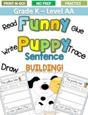 FUNNY PUPPY Sentence Building  LEVEL AA