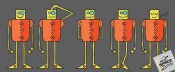 FUNNY ROBOTS ( images / clip arts )