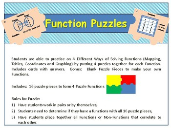 FUNctions Puzzles (4 Different Ways to Solve Functions)