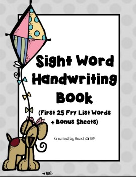 FUNdational Fry Sight Word Handwriting Book