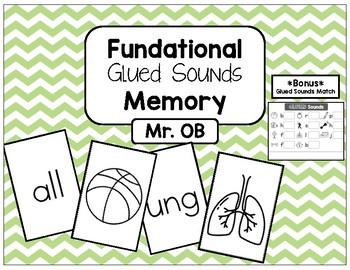 FUNdational Phonics - Glued Sounds Memory with BONUS Glued Sounds Match Activity