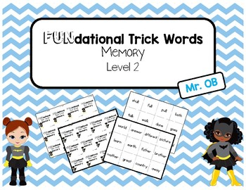 FUNdational Phonics - Trick Words Memory Level 2