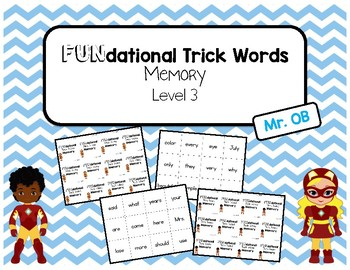 FUNdational Phonics - Trick Words Memory Level 3