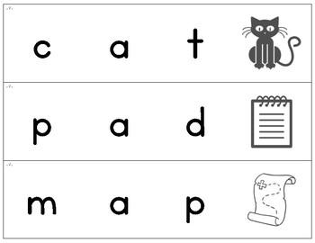 FUNdational Phonics - word decoding / segmenting strips