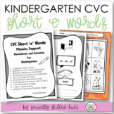 Phonics Support CVC Short 'e'  {For Kindergarten}